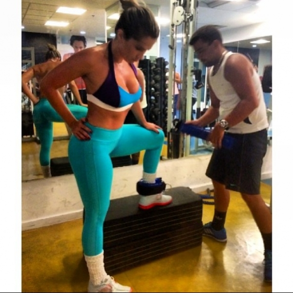 Fani malha com personal trainer: