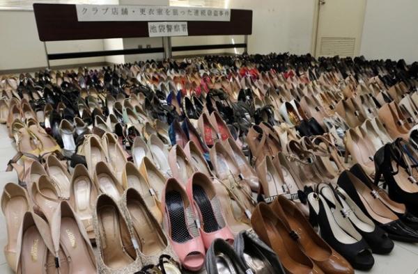 Japon黌  preso ap roubar mais de 450 pares de sapatos de salto alto