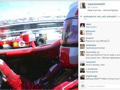 Após ser criticado por foto esquiando, Rubinho homenageia Schumacher