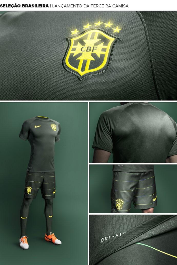 Fornecedora lança 3ª camisa da seleção brasileira por R  349 a217724da89db