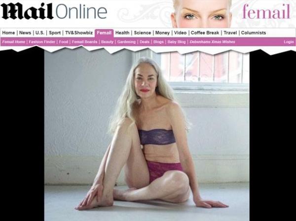 Aos 62, mulher posa de lingerie: