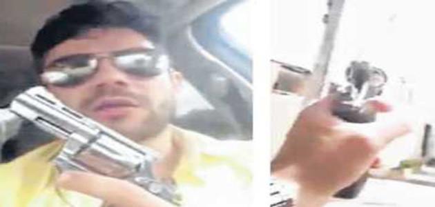 Polícia Civil prende homem que aparece em vídeo atirando em via pública de Fortaleza, no Ceará