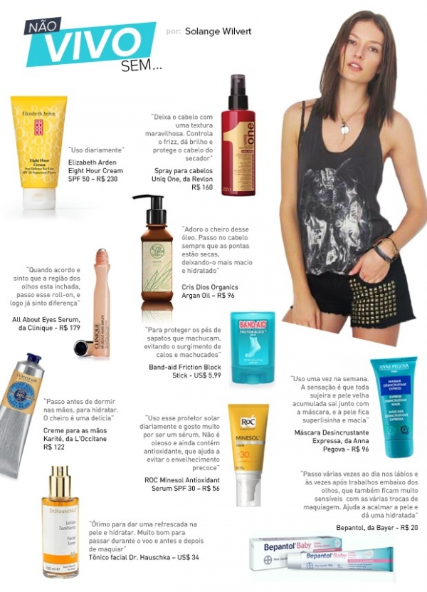 Dicas de top: Solange Wilvert lista seus produtos de beleza preferidos