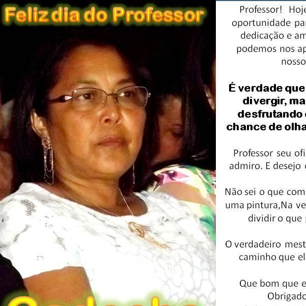 Mensagem da Prefeita Gadocha a todos os professores de Canavieira