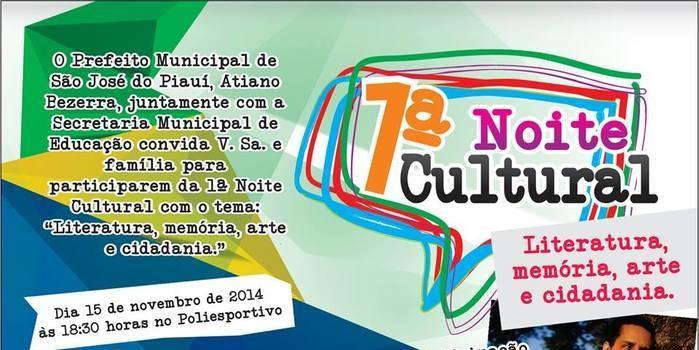 Prefeitura de São José realizará I Noite Cultural