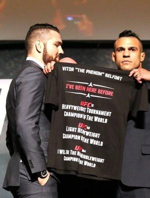 """Belfort mostra camiseta no meio de encarada com Weidman: """"história da minha vida"""" - Imagem 1"""