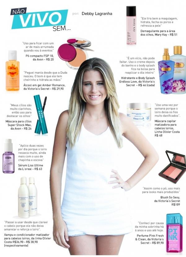 Debby Lagranha lista cosméticos com preços mais populares