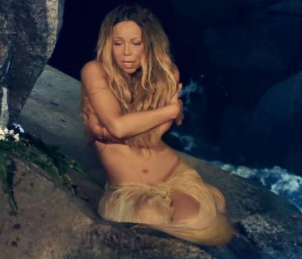 Mariah Carey aparece nua e com o corpo coberto de glitter em novo clipe