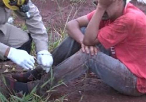 Homem é drogado, roubado e acorda amarrado em matagal