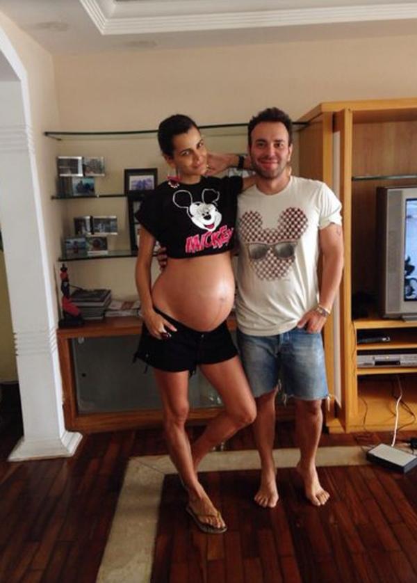 Fernanda Motta mostra barrigão a uma semana de dar à luz sua primeira filha
