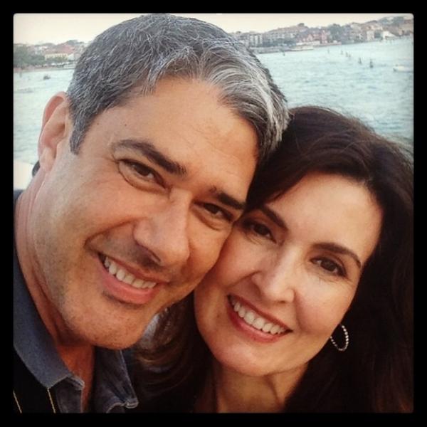 William Bonner e Fátima Bernardes comemoram 24 anos juntos