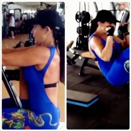 Scheila Carvalho mantém os 64kg com malhação e dieta e reconhece que não tem estrutura para ser uma Gisele Bündchen