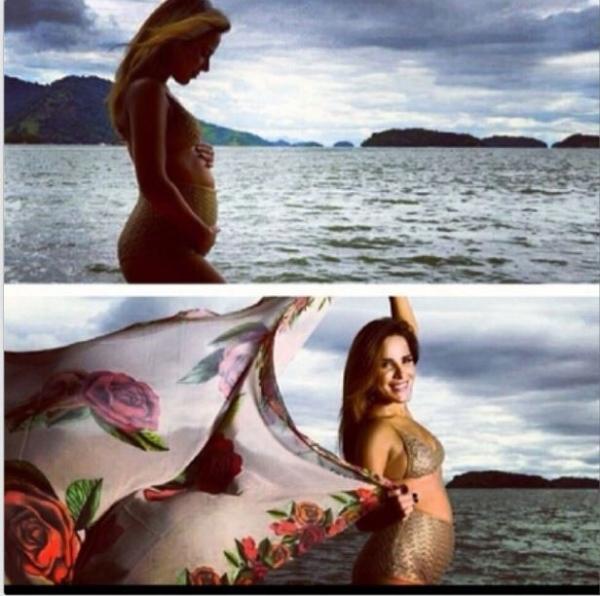 Zezé di Camargo posta fotos de Wanessa grávida:
