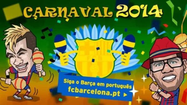 Com desenhos de Neymar e Alves, Barça entra no clima do carnaval