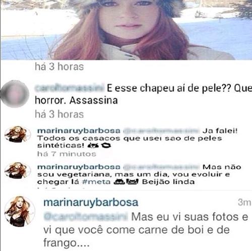 Marina Ruy Barbosa é chamada de