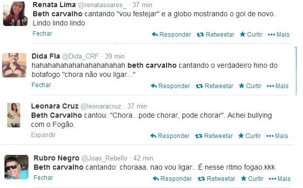 Pé quente, Beth Carvalho comete gafe com Botafogo e faz a festa de rivais
