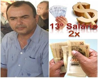 MASSAPÊ: Ex-prefeito Sousinha recebeu 13º salário duas vezes em um só ano, Veja!