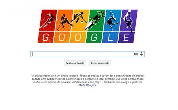 Carta Ol匇pica ganha Doodle do Google nos Jogos de Inverno de Sochi