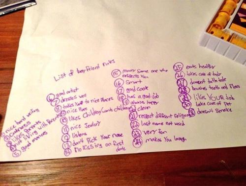 Irmãs de 6 e 9 anos fazem uma lista de 31 regras para o