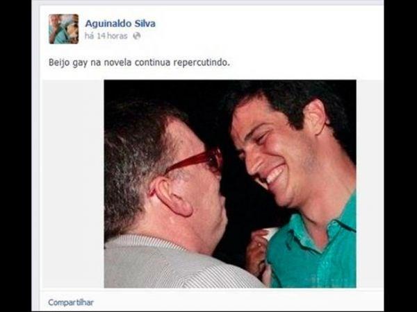 Xiii... Aguinaldo Silva volta a ironizar beijo gay de ?Amor à Vida?