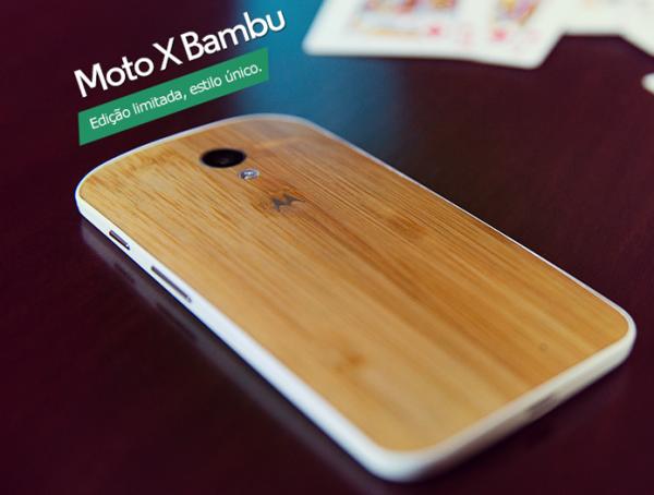 Motorola lança edição do Moto X com traseira de bambu no Brasil