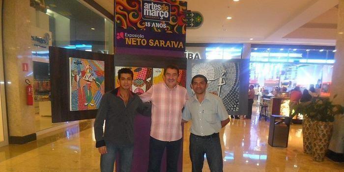 Artista plástico sãomiguelense realiza exposição no Teresina Shopping