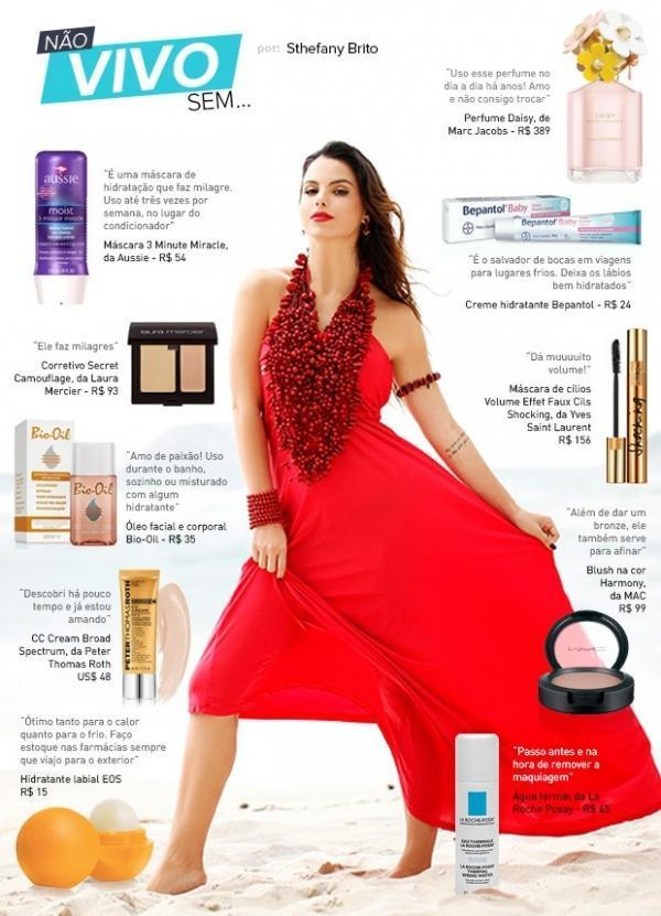 Sthefany Brito indica dez produtos de beleza para não tirar da nécessaire