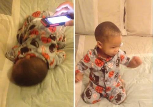 Bebê que desperta dançando ao som de música faz sucesso na web