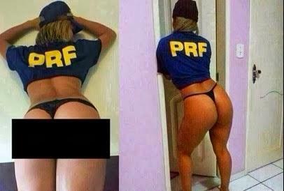Suposta agente da Pol兤ia Rodovi疵ia Federal tem fotos intimas vazadas no WhatsApp