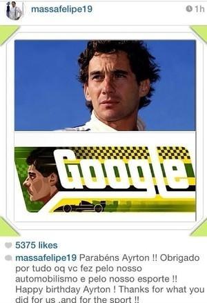 Rubinho e Massa homenageiam Senna, que faria 54 anos nesta sexta