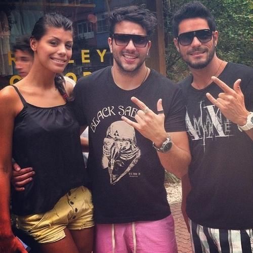 Ex-BBBs Júnior, Fran e Diego se encontram: