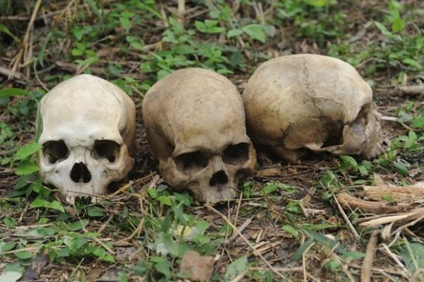 Pol兤ia encontra pessoas acorrentadas ao lado de cad疱eres e esqueletos em pr馘io na Nig駻ia