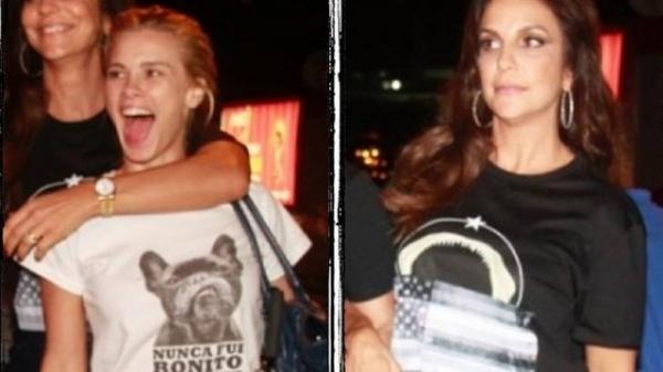 Carolina Dieckmann e Ivete Sangalo aderem à moda T-shirt em look noite, para aniversário de Juliana Paes