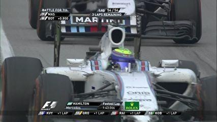 Massa ignora pedido da Williams, segura Bottas e diz: