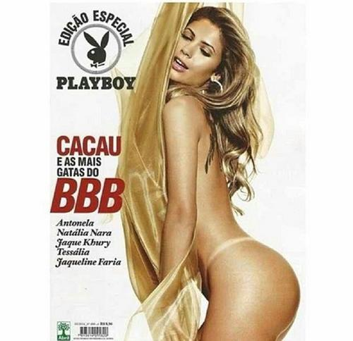 Cacau Colucci estrela sua sexta capa da Playboy