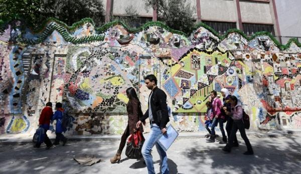 Mural decorado com materiais recicláveis bate recorde na Síria