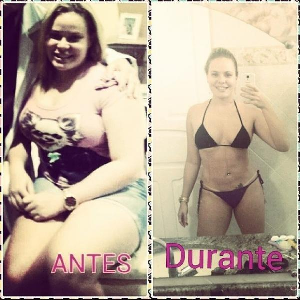 Tá magrinha! A ex-BBB Paulinha perdeu 38 kg e compara as fotos