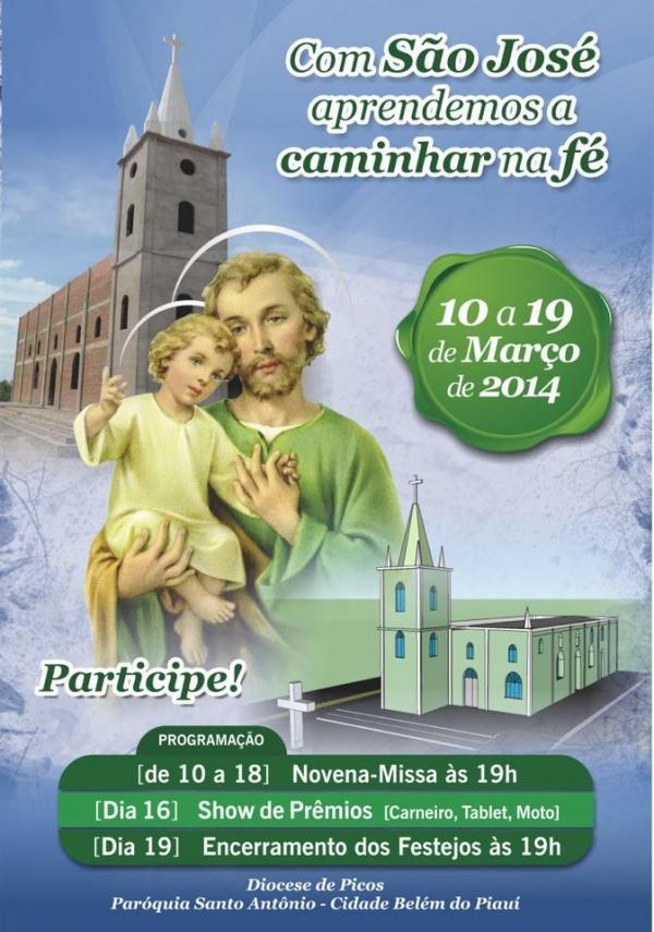 Belém celebra de 10 a 19 de março a festa do padroeiro São José. Veja a programação! - Imagem 1
