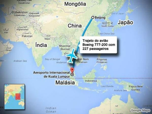 Tragédia no ar: Avião da Malaysia Airlines desapareceu no espaço vietnamita