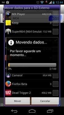GL to SD: libera a memória do cell e move os dados para o cartão MicroSD