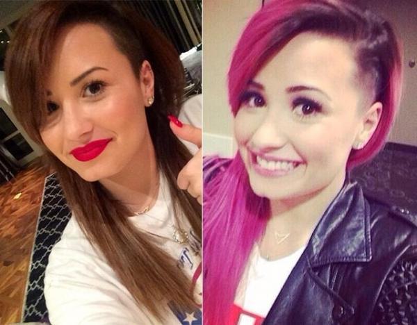 Cantora Demi Lovato pinta o cabelo e volta a ser morena