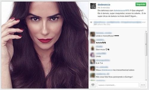 Deborah Secco aparece diferente em foto e fãs dizem: