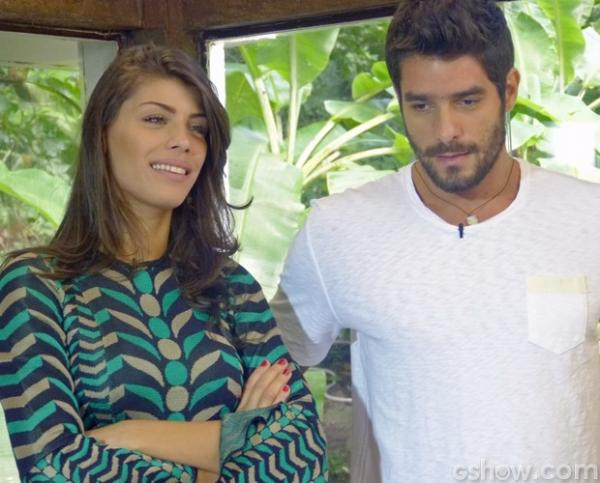Fran diz que Diego tem ciúme de Alemão e fala do assédio feminino no namorado