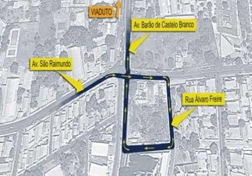 Trânsito próximo ao viaduto passará por mudança