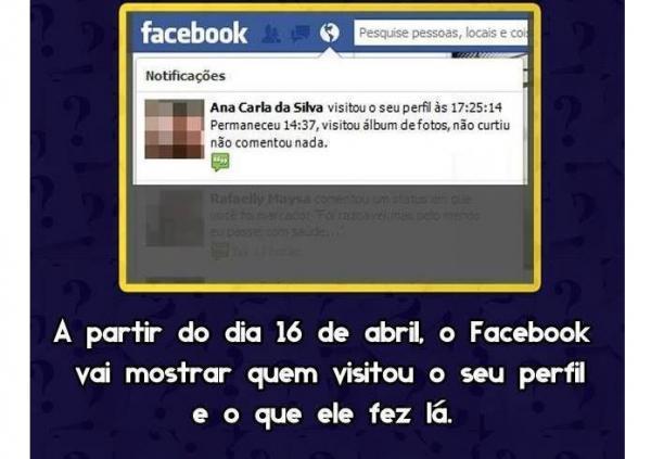 Boato ou verdade? Facebook vai mostrar quem visitou seu perfil na rede