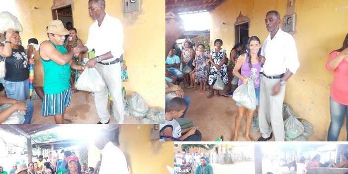 Vice-prefeito mantém a tradição de distribuição de cestas básicas na semana santa.