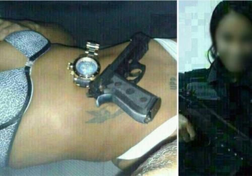 Com fixação por policiais, ?Maria UPP? posa com armas de policiais militares e fotos vazam
