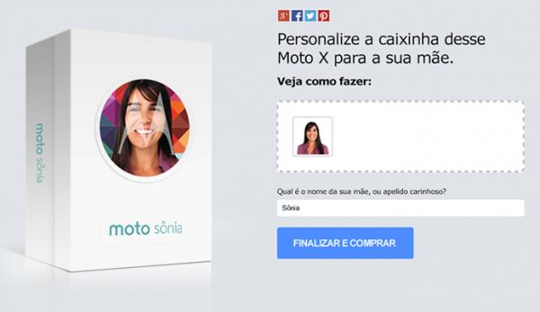 Moto X terá caixa personalizada com foto para o Dia das Mães no Brasil