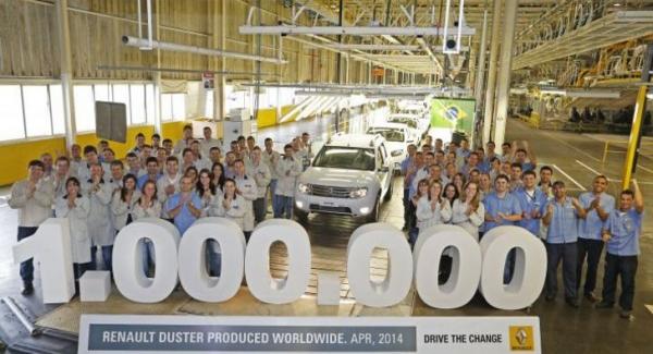 Renault Duster atinge a marca de 1 milhão de unidades produzidas no mundo