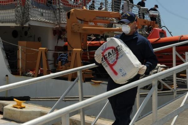 EUA apreendem coca匤a avaliada em R$ 245 milhs no Caribe